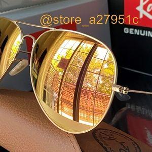 Ray-Ban Aviator NEW Copper Gold Flash Mirror